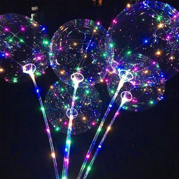 (ОПТ) Воздушный светодиодный шар BOBO LED, 3 режима ,3 Батарейки
