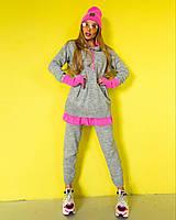 Женский вязаный спортивный костюм с зауженными штанами tez1805821, фото 1