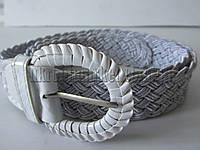 "Ремень женский плетенка шпенек серебро(ткань, 40 мм.) №М18129 ""Remen"" LM-638"