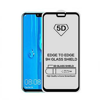 5D стекло для Huawei Y9 2019 Черное - Клей по всей плоскости