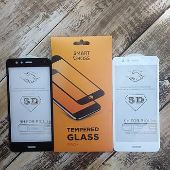 5D стекло для Huawei P10 lite White Premium Smart Boss™ Белое - Изогнутые края