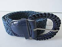 "Ремень женский плетенка шпенек синий(ткань, 40 мм.) №М18131 ""Remen"" LM-638"