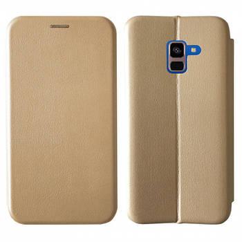 Чехол-книжка Level for Samsung A8 Plus 2018 Gold