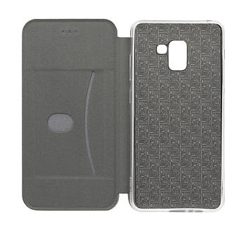 Чехол-книжка Level for Samsung A8 Plus 2018 Grey