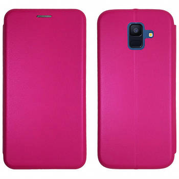Чехол-книжка Level for Samsung A6 2018 Pink