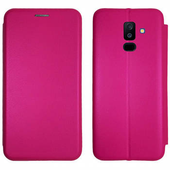 Чехол-книжка Level for Samsung A6 Plus 2018 Pink
