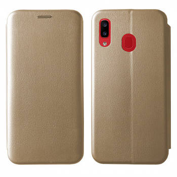 Чехол-книжка Level for Samsung A30 (A305F) Gold