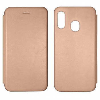 Чехол-книжка Level for Samsung A30 (A305F) Rose Gold