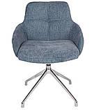 Кресло поворотное OLIVA синий (бесплатная доставка), фото 5
