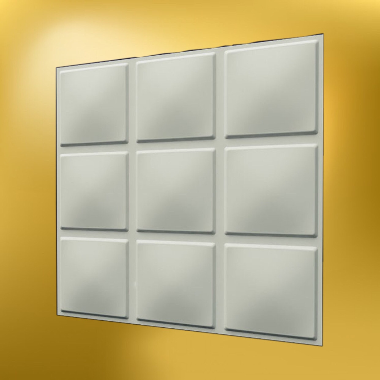 """Гипсовая 3д панель """"Кубики"""" LNK"""