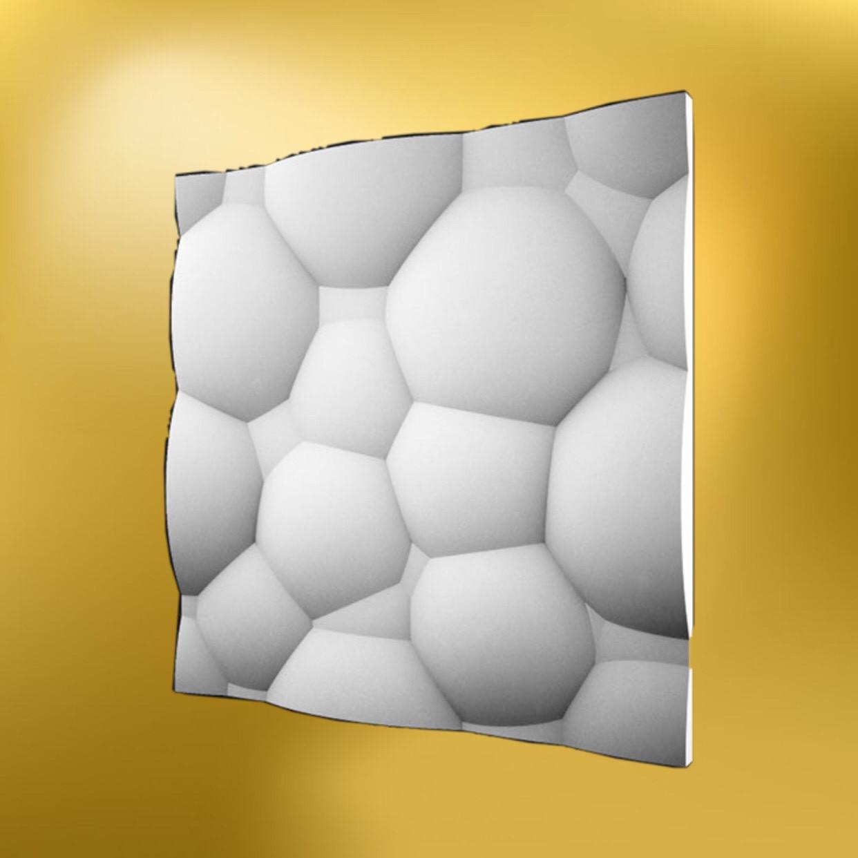 """Гипсовая 3д панель """"Пузыри"""" LNK"""