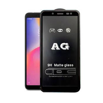 Матовое 5D стекло для Samsung Galaxy J6 Black Черное - Полный клей