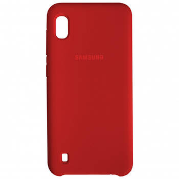 Накладка Silicone Cover for Samsung A10 Red