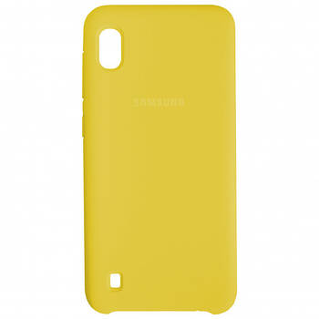 Накладка Silicone Cover for Samsung A10 Yellow