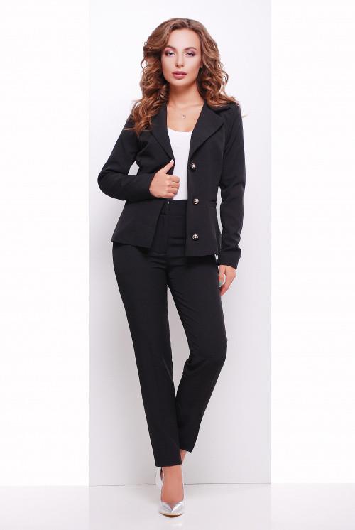 Женские брюки из костюмной ткани черные