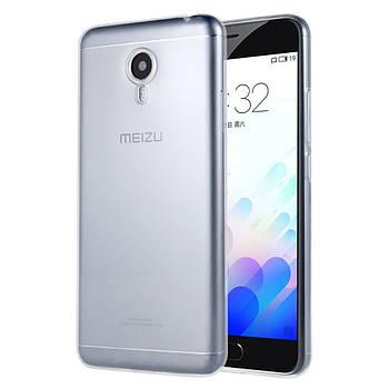 Силиконовый чехол прозрачный ультратонкий 0.3 mm for Meizu M5