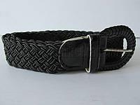"""Ремень женский плетенка шпенек черный(ткань, 40 мм.) №М18136 """"Remen"""" LM-638"""