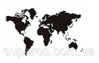 Наклейка Карта мира XL матовая (200х90см)