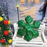 """Объемная аппликация-патч с глиттером, """"Снежинка"""", 7,7 см, 1 шт., цвет зеленый, фото 2"""
