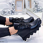 Женские зимние черные ботинки, из натуральной кожи 36 ПОСЛЕДНИЕ РАЗМЕРЫ, фото 2