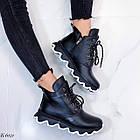 Женские зимние черные ботинки, из натуральной кожи 36 ПОСЛЕДНИЕ РАЗМЕРЫ, фото 3