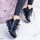 Женские зимние черные ботинки, из натуральной кожи 36 ПОСЛЕДНИЕ РАЗМЕРЫ, фото 4