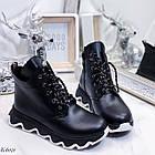 Женские зимние черные ботинки, из натуральной кожи 36 ПОСЛЕДНИЕ РАЗМЕРЫ, фото 6