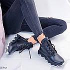 Женские зимние черные ботинки, из натуральной кожи 36 ПОСЛЕДНИЕ РАЗМЕРЫ, фото 7