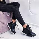 Женские зимние черные ботинки, из натуральной кожи 36 ПОСЛЕДНИЕ РАЗМЕРЫ, фото 8