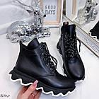 Женские зимние черные ботинки, из натуральной кожи 36 ПОСЛЕДНИЕ РАЗМЕРЫ, фото 9
