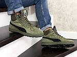 Мужские зимние кроссовки Puma Suede (темно-зеленые), фото 5