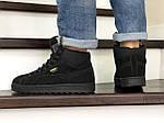 Мужские зимние кроссовки Puma Suede (черные), фото 3