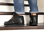 Мужские зимние кроссовки Reebok (черно-коричневые), фото 4