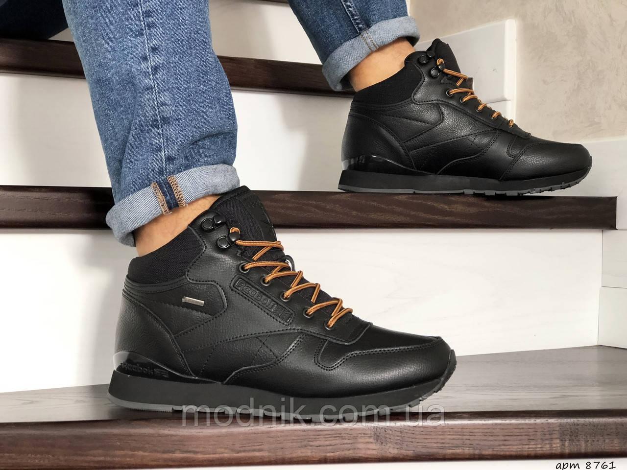 Мужские зимние кроссовки Reebok (черные)