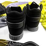 Зимние кроссовки Adidas Tubular Invader Strap (черные), фото 2