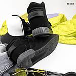 Зимние кроссовки Adidas Tubular Invader Strap (черные), фото 3