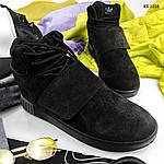 Зимние кроссовки Adidas Tubular Invader Strap (черные), фото 5