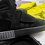 Зимние кроссовки Adidas Tubular Invader Strap (черные), фото 7