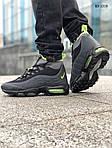 Мужские зимние кроссовки Nike Air Max 95 Sneakerboot (черно/зеленые) ТЕРМО, фото 4