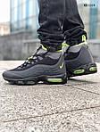 Мужские зимние кроссовки Nike Air Max 95 Sneakerboot (черно/зеленые) ТЕРМО, фото 5