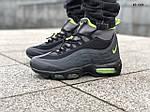 Мужские зимние кроссовки Nike Air Max 95 Sneakerboot (черно/зеленые) ТЕРМО, фото 8