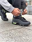 Мужские зимние кроссовки Nike Air Max 95 Sneakerboot (черно/зеленые) ТЕРМО, фото 9