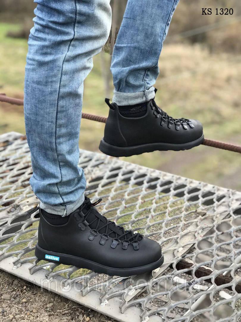 Зимние ботинки Native The Fitzsimmons Black (черные) ТЕРМО