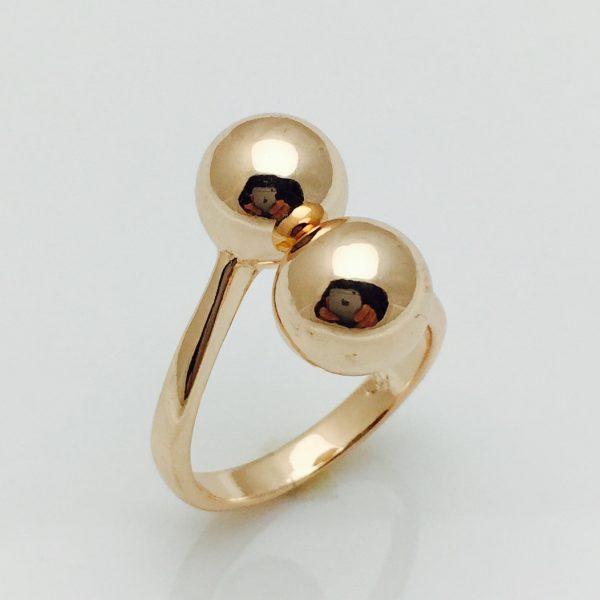 Кольцо Поцелуйчик, безразмерное ювелирная бижутерия