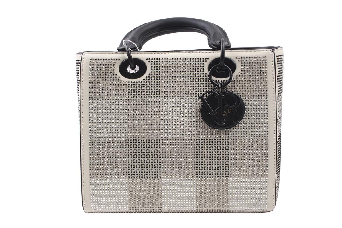 Стильная женская сумка из эко-кожи, цвет бежевый