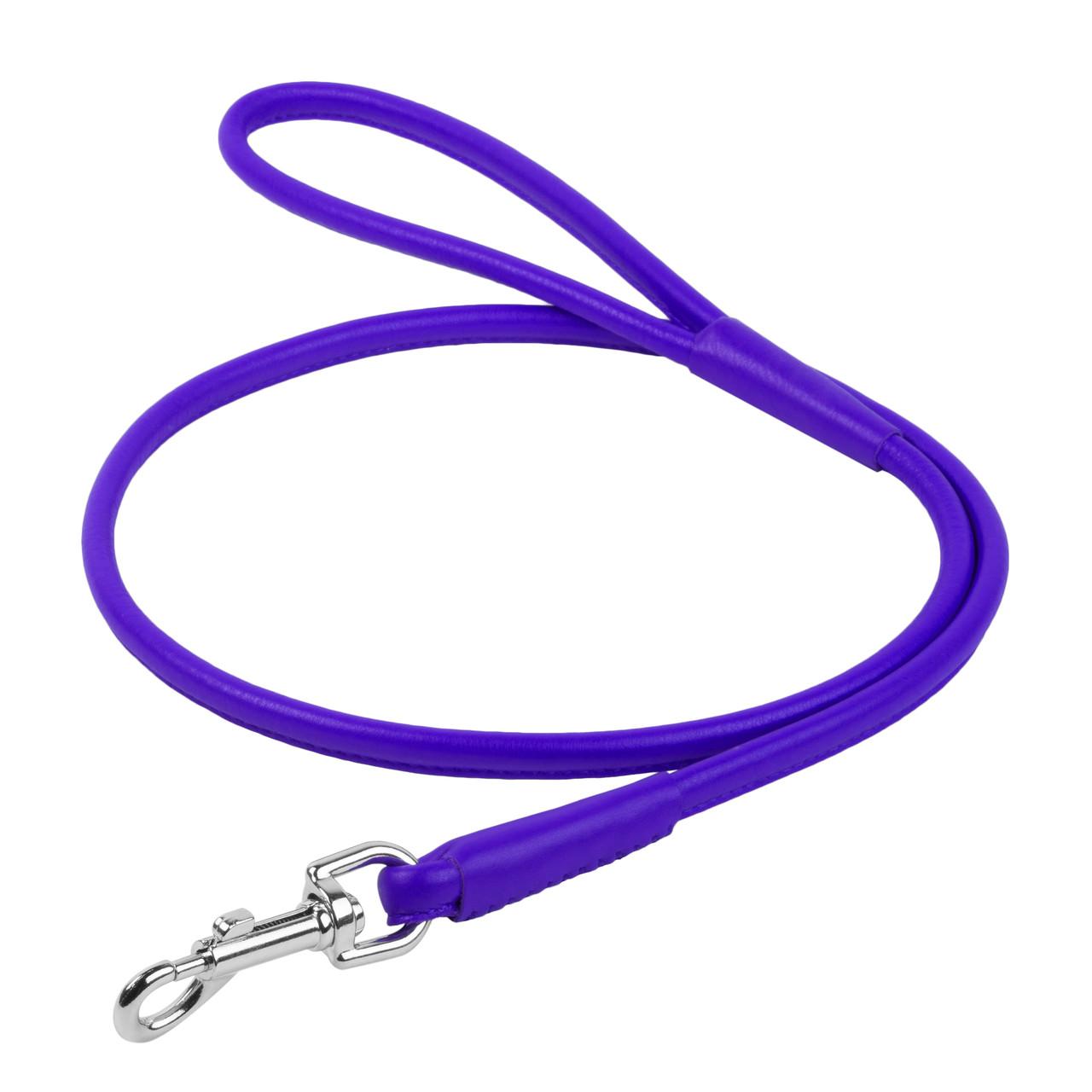 Поводок круглый WAUDOG Glamour Фиолетовый 122 (33889)
