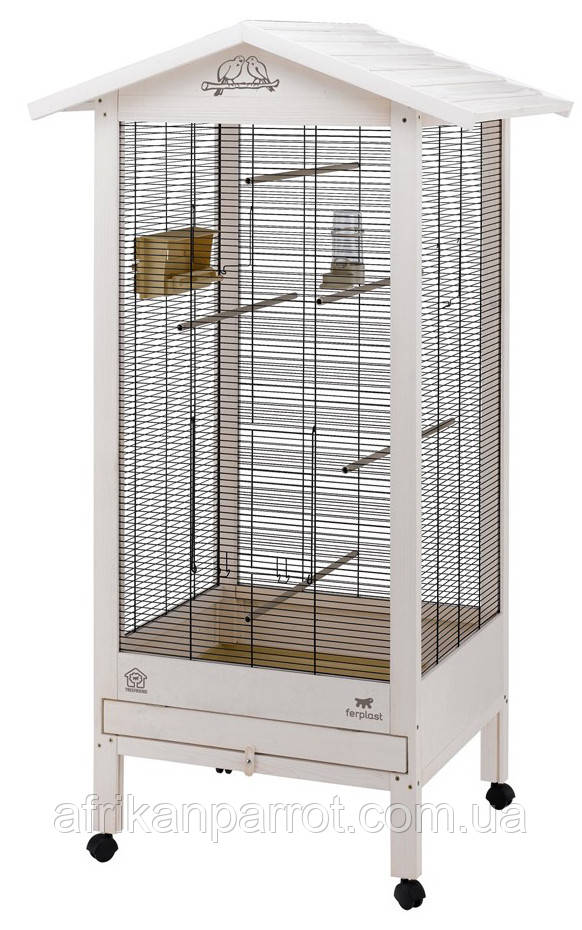 Ferplast HEMMY Деревянный вольер для птиц. 67,5*58*165  см