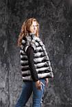 Жилет из шиншиллы  Natural chinchilla fur vest gilet, фото 2