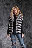 Жилет из шиншиллы  Natural chinchilla fur vest gilet, фото 1