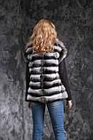 Жилет из шиншиллы  Natural chinchilla fur vest gilet, фото 3